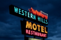 Western Hills Motel, neon sign, Route 66, Flagstaff, AZ