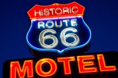 Historic Route 66 Motel, neon sign, Route 66, Seligman, AZ