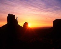 Mittens Sunset, Monument Valley