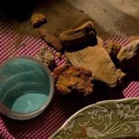 Using stones for pigment