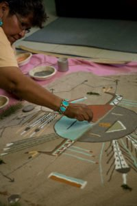 Walking Thunder Sand Painting