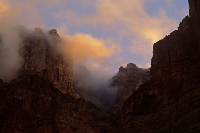 Sunrise clouds in Grand Canyon Inner Canyon | Photo by Larry Lindahl