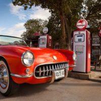 1957 Corvette on Route 66