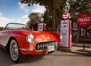 1957 Corvette on Route 66