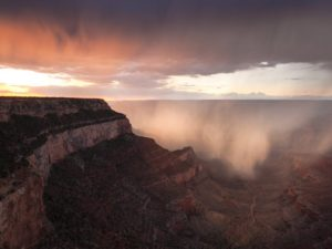 Monsoon Storm over Grand Canyon