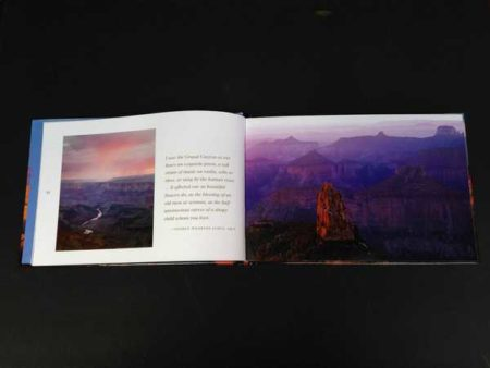 Navajo Point sunrise, East Rim (left), Point Imperial sunrise, North Rim (right)