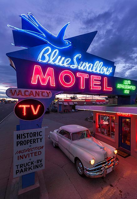 Blue Swallow Motel on Historic Route 66 in Tucumcari, NM