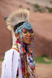 Navajo boy dancer at the Gallup Inter-Tribal Ceremonial Pow Wow