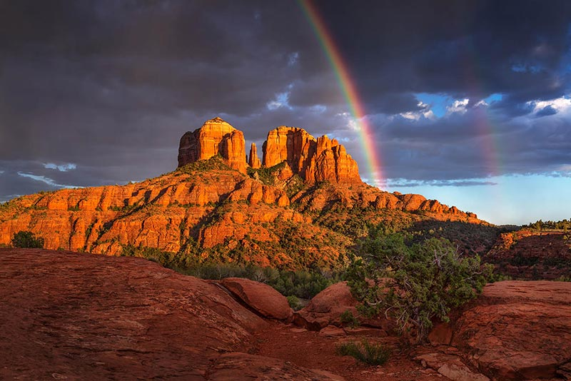 Rainbow over Cathedral Rock, Sedona