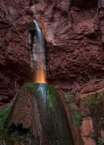 Night photography, Ribbon Falls, Grand Canyon, landscape photography, Sedona photographer